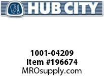 HUBCITY 1001-04209 PB220NX1 PILLOW BLOCK BEARING