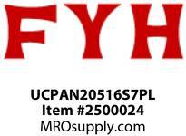 FYH UCPAN20516S7PL 1^ PB CHROME INSERT & PLAST HSG