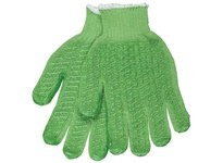MCR 9514GHS Honey Grip Regular Weight Cotton/Polyester Pastel Green Honeycomb Pattern