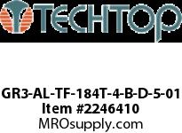 Techtop GR3-AL-TF-184T-4-B-D-5-01 PREMIUM EFFICIENCY3 PHASE Aluminiu