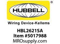 HBL_WDK HBL2621SA LKG S/SHRD ANG PLG 30A250V L6-30PB/W
