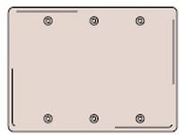 HBL-WDK SS33 WALLPLATE 3-G BLANK SS