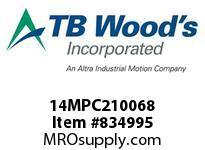 TBWOODS 14MPC210068 14MPC-2100-68 QTPCII BELT