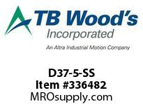 TBWOODS D37-5-SS FLEX DISC STAINLESS