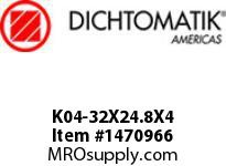Dichtomatik K04-32X24.8X4 PISTON SEAL 40 PERCENT BRONZE FILLED PTFE PISTON SEAL WITH NBR 70 O-RING METRIC