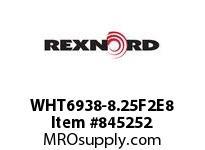 REXNORD WHT6938-8.25F2E8 WHT6938-8.25 F2 T8P WHT6938 8.25 INCH WIDE MATTOP CHAIN