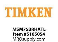 TIMKEN MSM75BRHATL Split CRB Housed Unit Assembly