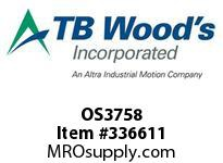 TBWOODS OS3758 OS37X5/8 FHP SHEAVE