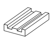 System Plast HG-2050-5 HG-2050-5 MACHND CURVES-STANDARD BEV OR TAB