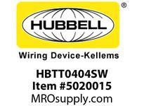 HBL_WDK HBTT0404SW WBPRFRM RADI T 4HX4W PREGALVSTLWLL