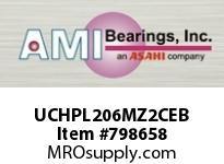 AMI UCHPL206MZ2CEB 30MM ZINC WIDE SET SCREW BLACK HANG COVERS SINGLE ROW BALL BEARING
