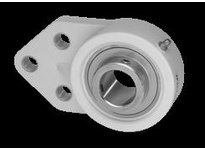 IPTCI SUCTFB206-20-N Stainless Insert Thermoplastic Housing 3-Bolt Flange Bracket Set Screw Lock Bore Dia. 1 1/4^^S