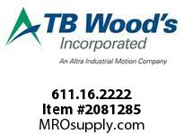 TBWOODS 611.16.2222 HUCO-POL U-JOINT 16 6MM--6MM
