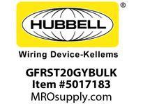 HBL_WDK GFRST20GYBULK 20A COM SELF TEST GFR GRAY BULK