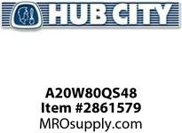 HUB CITY A20W80QS48 210 ASSY WORM INTG 80/1 48CZ Service Part