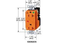 HBL-WDK IG8362ISA DUP SPD RCPT IG HG20A 125V 5-20RIV