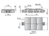 System Plast 11528G XPG863SS-K450 SYS CHAIN STEEL 2 PC