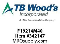 TBWOODS F19214M40 F192-14M-40-E SYNCH SPROCK