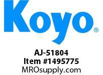 Koyo Bearing AJ-51804 NEEDLE ROLLER BEARING SOLID RACE CAGED BEARING
