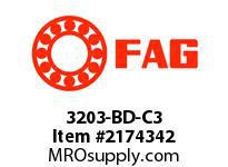 FAG 3203-BD-C3 DOUBLE ROW ANGULAR CONTACT BALL BRE
