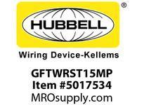HBL_WDK GFTWRST15MP 15A BROWN GFR TRWR ST MID SZ PL