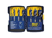 "IRWIN 1877240 SPEEDBOR MAX 4"" OAL 5PC CLAM SET"