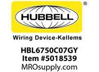 HBL_WDK HBL6750C07GY RACEWAY 7^ COVER HBL6750 SER GY