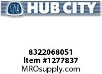 HubCity 8322068051 CONE BEARING HM801346 OR EQ