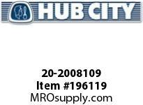 HUBCITY 20-2008109 75H 15.37/1 S C4 3.938 PARALLEL SHAFT DRIVE