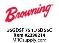 Morse MN1897 35GDSF 75 1.75B 56C GDSA/F GEARMOTORS
