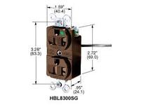 HBL-WDK HBL8300SGLA DUP RCPT TAMP-RES 20A 125V 5-20R LA