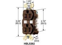 HBL-WDK HBL5262WSA DUP SPD RCPT 15A 125V 5-15R WH