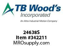 TBWOODS 24638S 24X6 3/8-E STR PULLEY