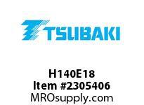 US Tsubaki H140E18 HT Cross Reference H140E18 QD SPROCKET HT
