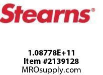 STEARNS 108778101003 THRU SHAFT87000 SPLN HUB 206176
