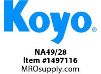 Koyo Bearing NA49/28 NEEDLE ROLLER BEARING SOLID RACE CAGED BEARING