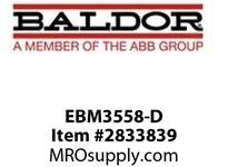 BALDOR EBM3558-D 2HP, 1755RPM, 3PH, 60HZ, 56, 3528M, TEFC, F3, BR, 230/460