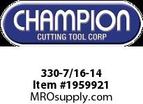 Champion 330-7/16-14 CARBON STEEL HEX DIES