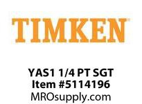 TIMKEN YAS1 1/4 PT SGT Ball Polymer Housed Unit