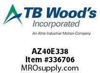 TBWOODS AZ40E338 AZ40-EX3 3/8 FF COUP HUB