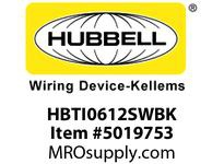 HBL_WDK HBTI0612SWBK WBPRFRM RADI INTER 6Hx12WBLACKSTLWLL