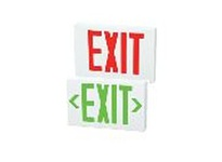 Fulham FHEX21BREM FireHorse Emergency Exit Sign - Thin Profile LED - Black housing - Red Letters - Battery Backup