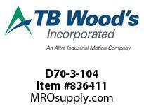 TBWOODS D70-3-104 HUB 5.00 FOR B-LOC 195-10