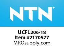NTN UCFL206-18 Oval flanged bearing unit
