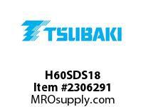 US Tsubaki H60SDS18 HT Cross Reference H60SDS18 QD SPROCKET HT
