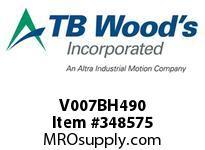 TBWOODS V007BH490 CODE 49 HSV17B