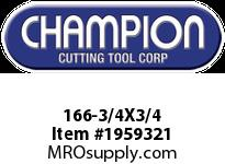 Champion 166-3/4X3/4 4 FL SE SOLID CARB END MILL