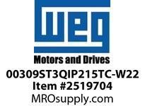 WEG 00309ST3QIP215TC-W22 3HP 900 3 60 460V IEEE-841