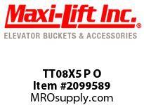 Maxi-Lift TT08X5 P O TIGER-TUFF STANDARD POLYETHYLENE ELEVATOR BUCKET