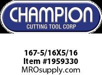 Champion 167-5/16X5/16 4 FL DE SOLID CARBIDE END MILL